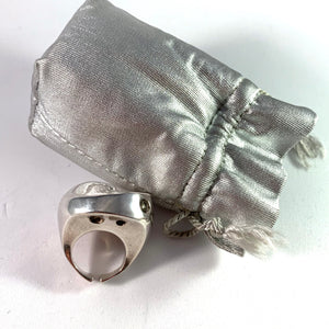 Poul Havgaard for Lapponia year 1973 Massive Sterling Ring .Original Bag. Design New Born.