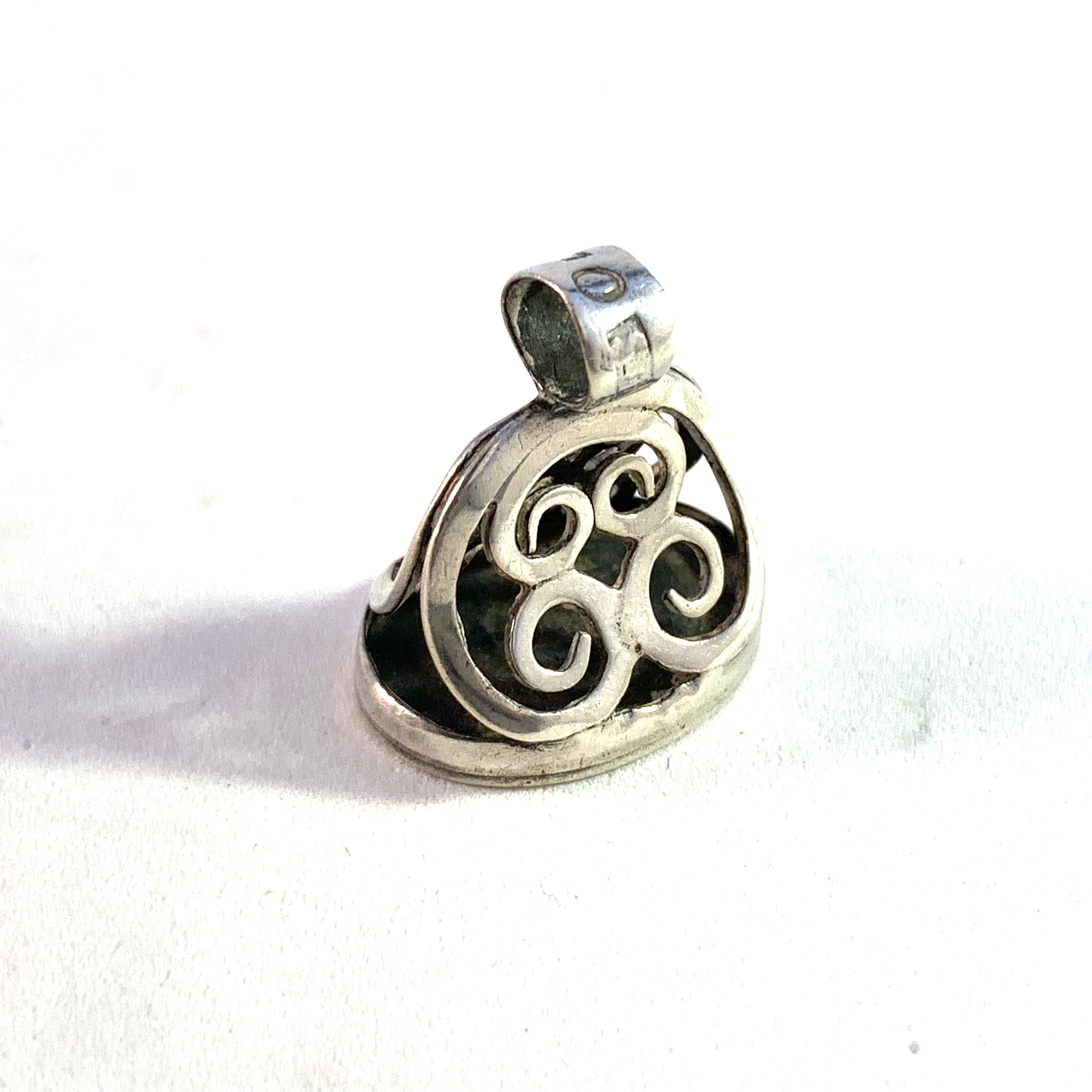 A Westberg, Sweden 1848 Early Victorian Solid Silver Fob Seal Pendant