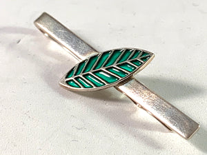 Konrad Mehus for David Andersen Norway Vintage Sterling Silver Enamel Tie Bar