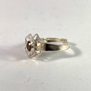 Theresia Hvorslev, Alton, Sweden year 1974 Sterling Smoky Quartz Ring.