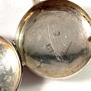 Peter Magnus Björklund, Gothenburg, Sweden year 1873 Victorian Solid Silver Locket Pendant.