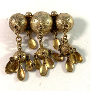 CRL, Sweden year 1907 Gilt Standard Silver Traditional Brooch.