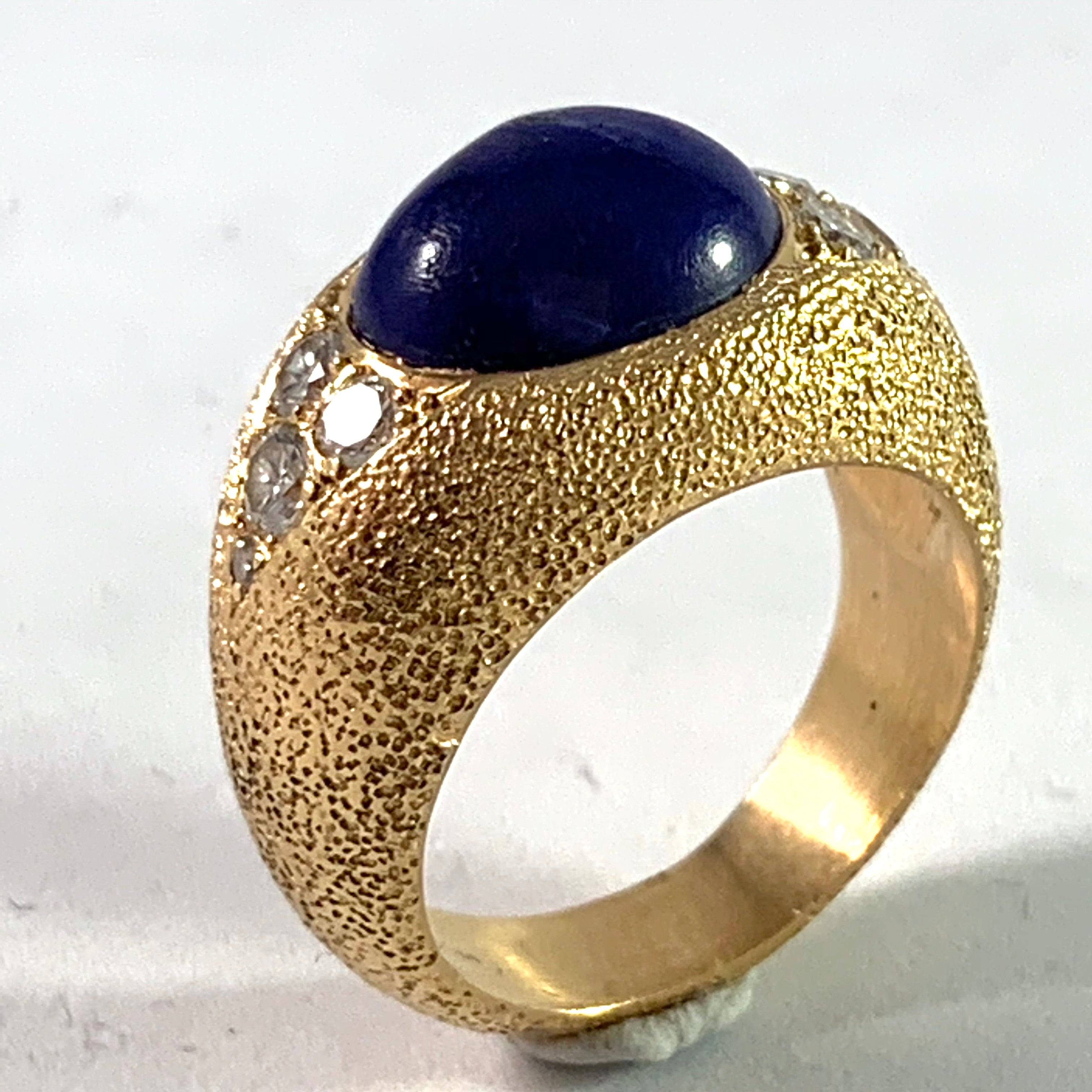 1960s gold cocktail ring