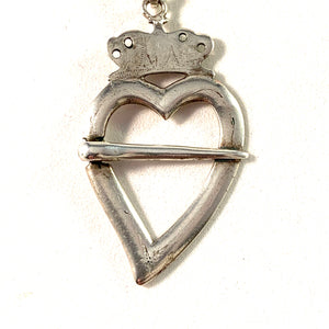 Anton Kleen, Sweden year 1791-1800, Georgian Solid Silver Pendant Brooch Conversion.