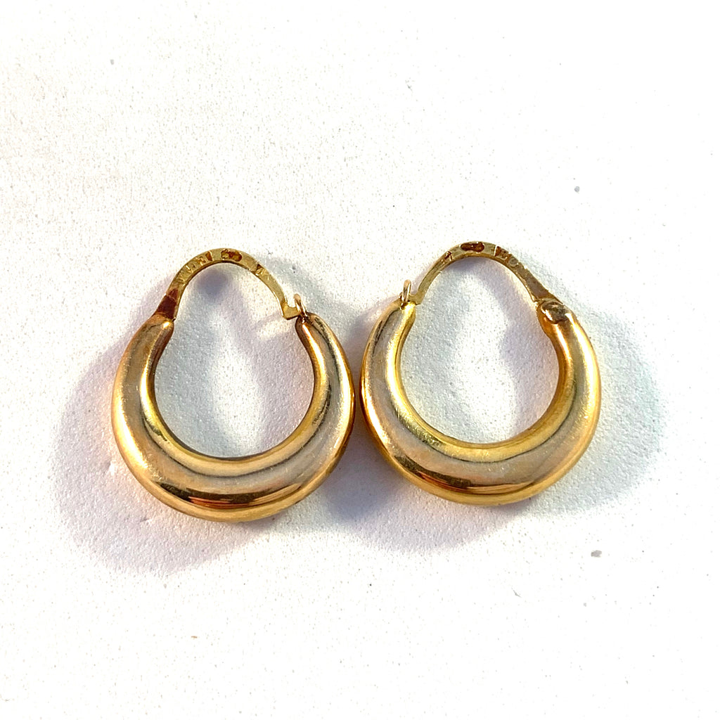 Ernst G Markström, Sweden 1860s Victorian 18k Gold Earrings