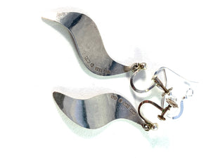 Louise Carlman, Sweden Vintage Sterling Silver Earrings