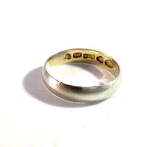 Kaarle August Wahlroos, Finland year 1896 Solid Silver Men's Wedding Band Ring.