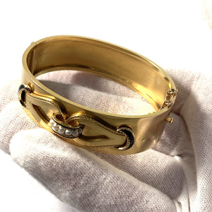 Victorian gold mourning bracelet jewelry