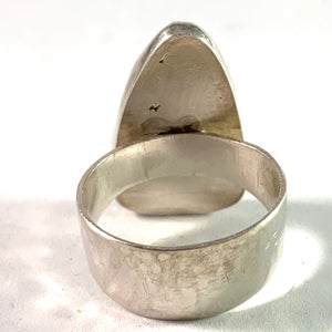 Israel. Swedish Import 1970s Bold Sterling Eilat Stone Ring.