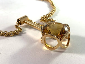 Cecilia Johansson, Sweden 1965, 18k Gold Citrine Necklace 48,6gram