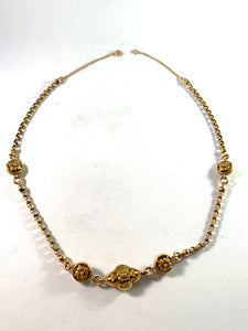 Lars Fredin (1825-64) Sweden Early Victorian 18k Gold Necklace