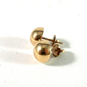 Uno A Erre, Italy 1944-64 Mid Century 18k Gold Stud Earrings.