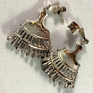 Alpo Tammi, Finland 1970 Silver Dangle Earrings.