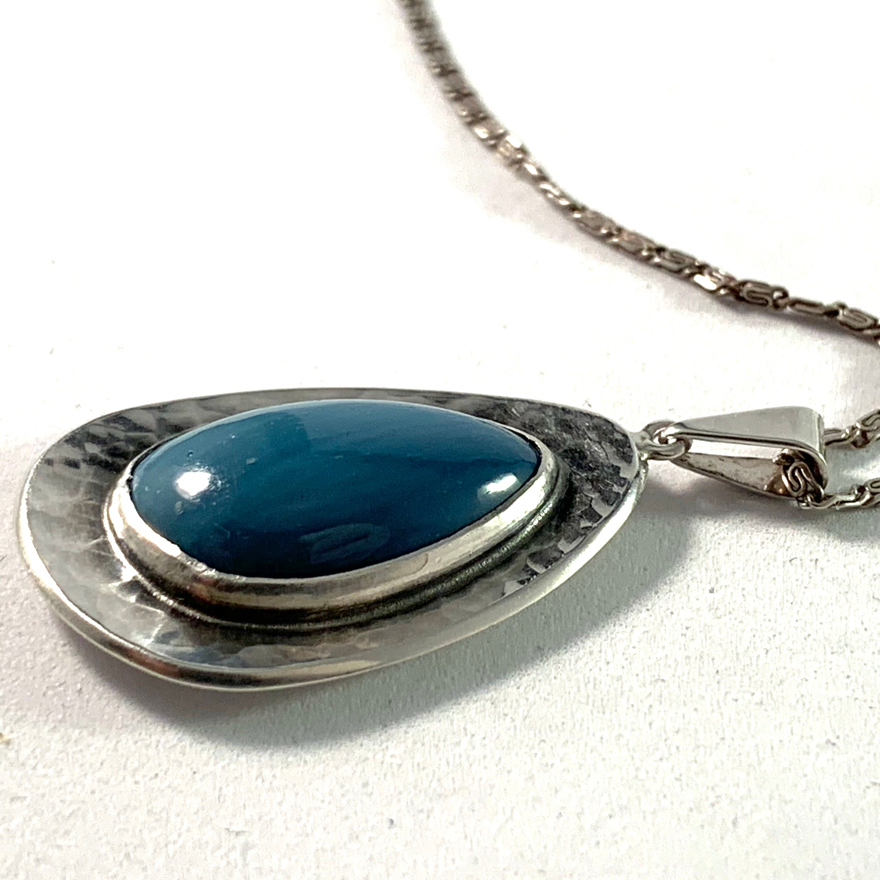 North Sweden 1960s Silver Bergslagen-Stone Necklace.