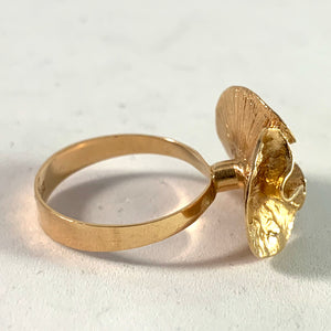 Theresia Hvorslev, Sweden 1976. 18k Gold Water Lily Ring.