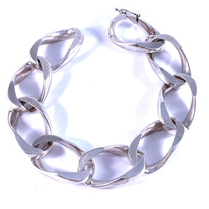 Friedrich Binder, Germany 1960s Massive 2.75oz Solid 835 Silver Men's Bracelet.
