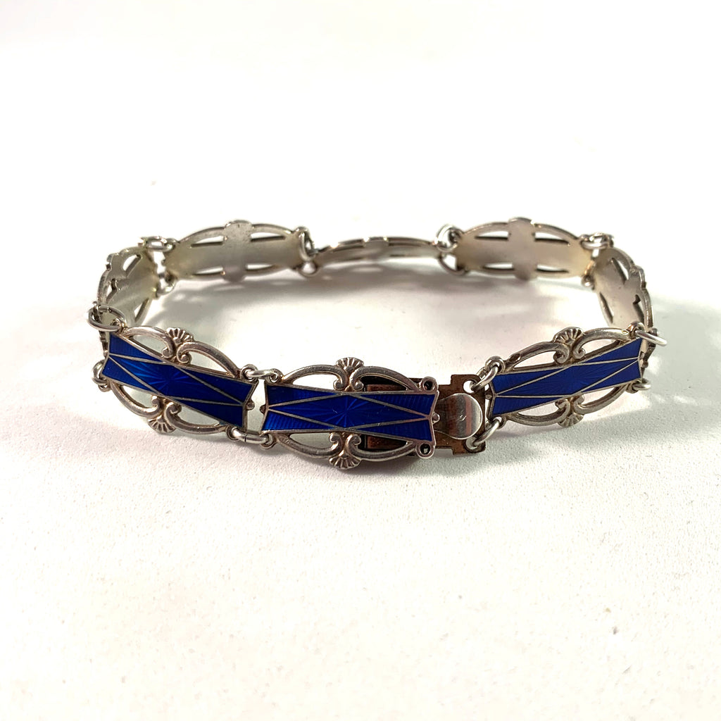 Willy Winnæs, Norway Mid Century Sterling Enamel Bracelet.