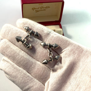 Hans Hansen 1930-40s Boxed Sterling Cufflinks Design no 62