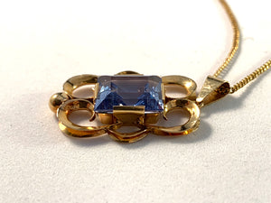 Stockholm 1954, Boxed 18k Gold Spinel Necklace.