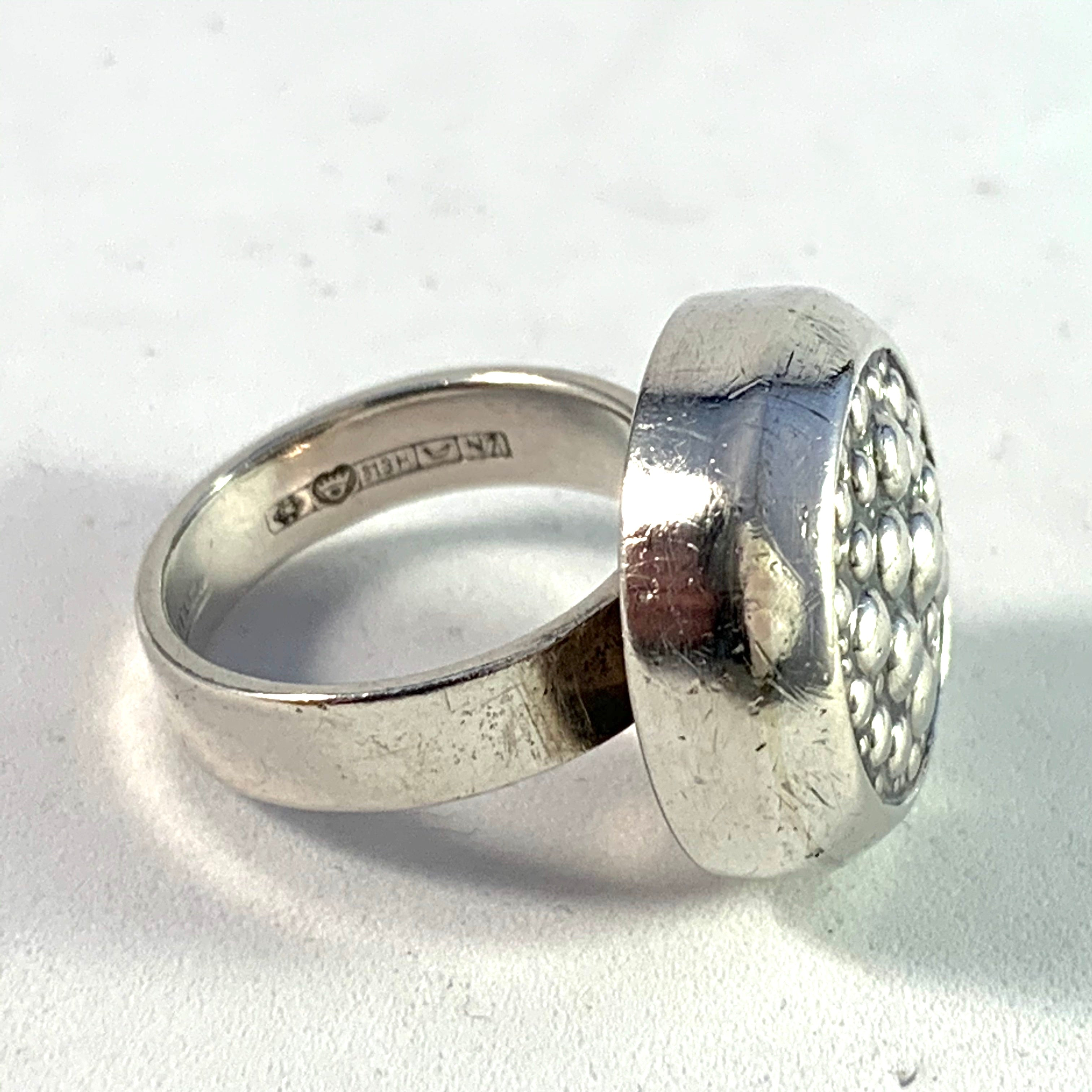 Erik Granit , Finland year 1966 Modernist Solid Silver Ring