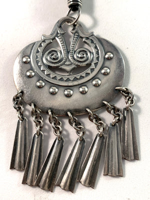 Kalevala Koru Finland 1975 Large Sterling Necklace. Design Moon Goddess