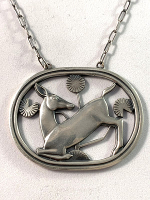 Georg Jensen 1933-44 Sterling Necklace. Design 95 Arno Malinowski