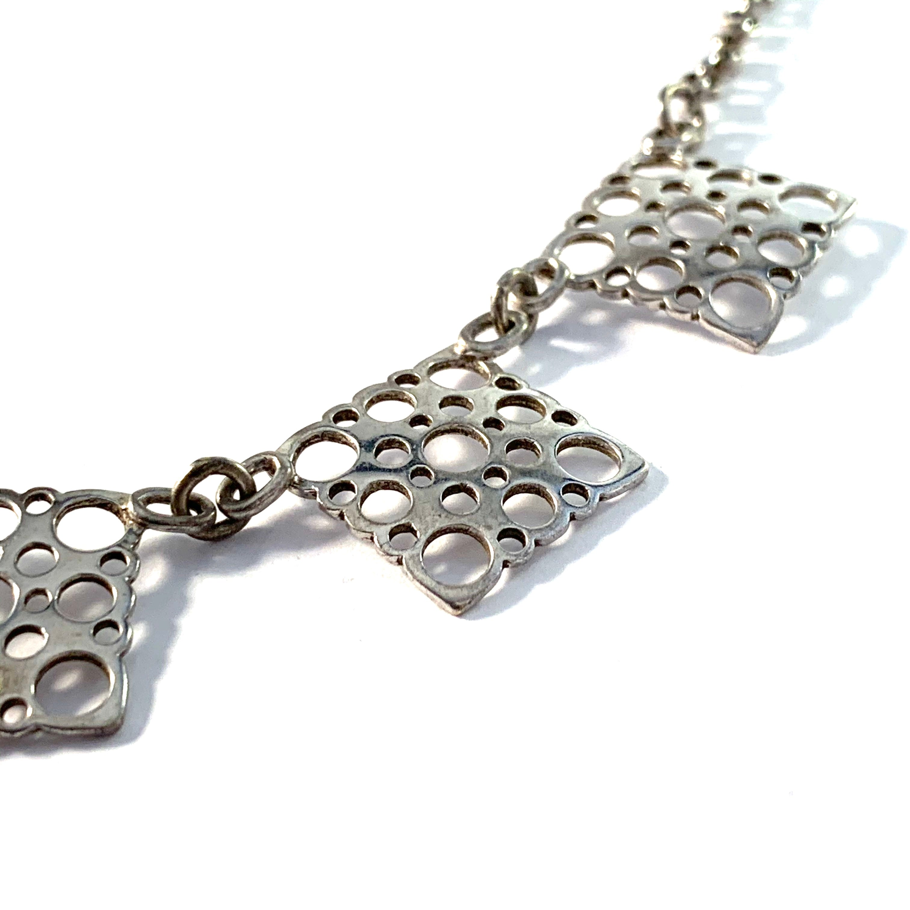 Liisa Vitali for Kultakeskus, Finland Vintage Sterling Silver Necklace.