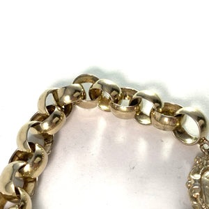 Adolf Bergman, Sweden 1849 Early Victorian Silver Bracelet.