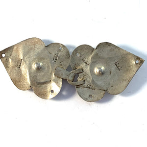 A Munthe, Sweden 1835-53 Early Victorian Solid Silver Paste Stone Shirt Buckle Clasp