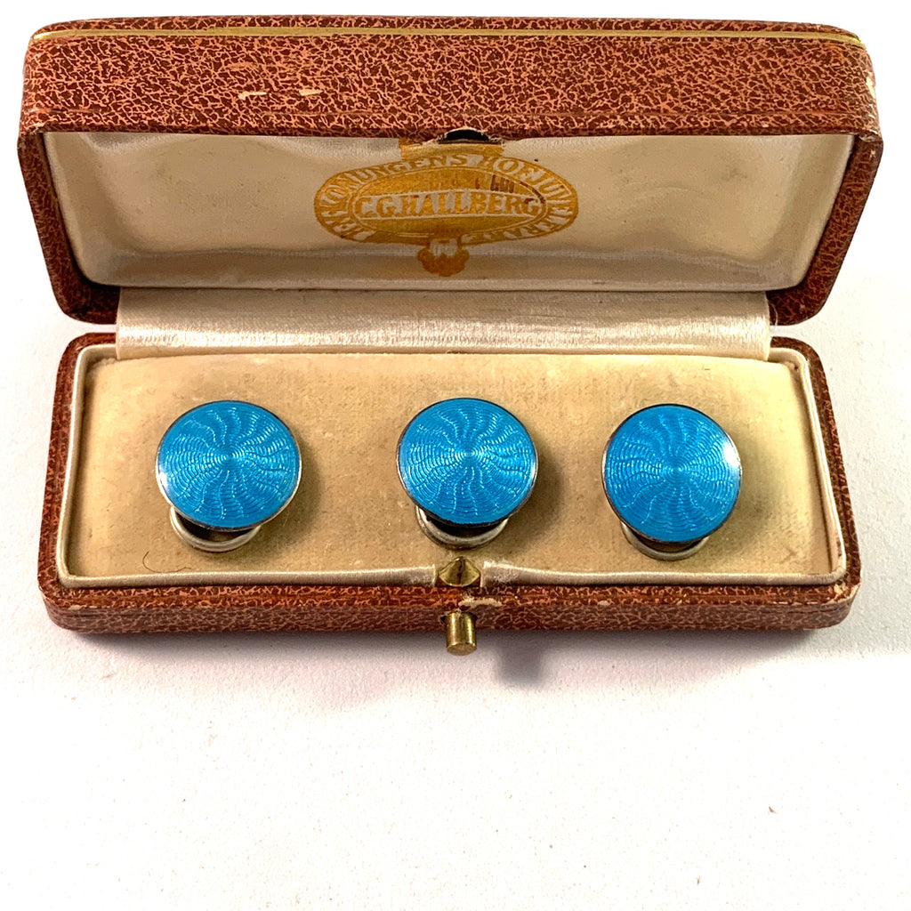 Ole Nicolai Olberg, Norway 1907-1934 Sterling Enamel Buttons