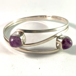 Gert Thysell, Gussi Sweden 1959 Sterling Amethyst Bangle