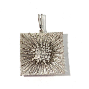 Friedrich Speidel, Germany, 1960s Solid 830 Silver Modernist Pendant.