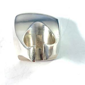 Poul Havgaard for Lapponia 1972 Massive Bold Sterling Silver Ring.