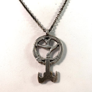 Sterling Viking Copy Key to Valhalla Pendant Necklace.