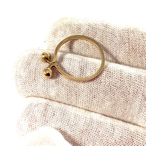 "Theresia Hvorslev, Sweden. Vintage 18k Gold Stack Ring. ""The Tale Of The Ring"""