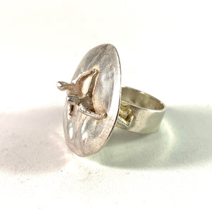 Bjorn Weckstrom for Lapponia 1971 Sterling Silver Ring. Design: Dance in the Galaxy.