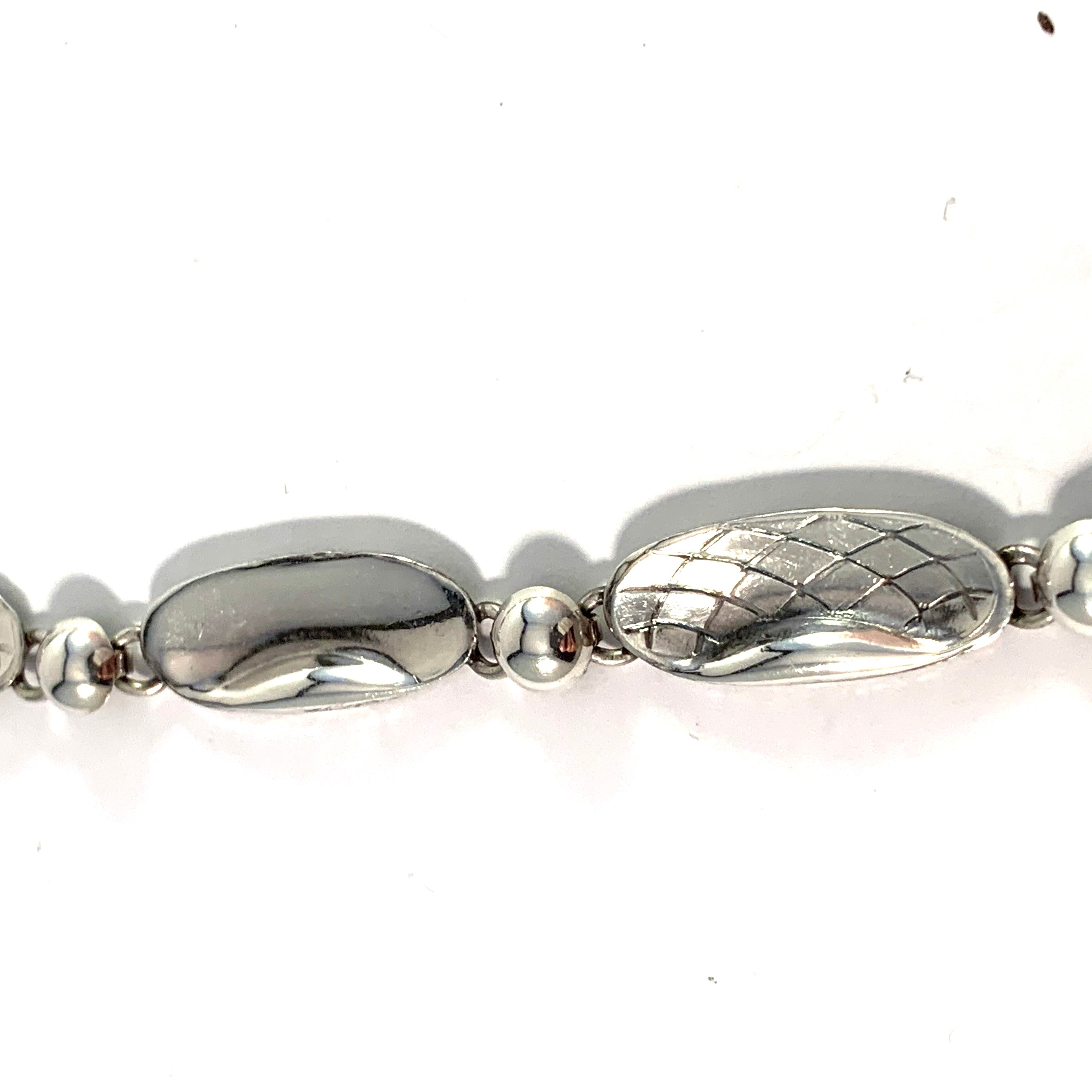 Alton, Sweden 1958. Mid Century Sterling Silver Necklace.