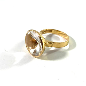Atelje Stigbert, Sweden 1968. Modernist 18k Gold Rock Crystal Ring.