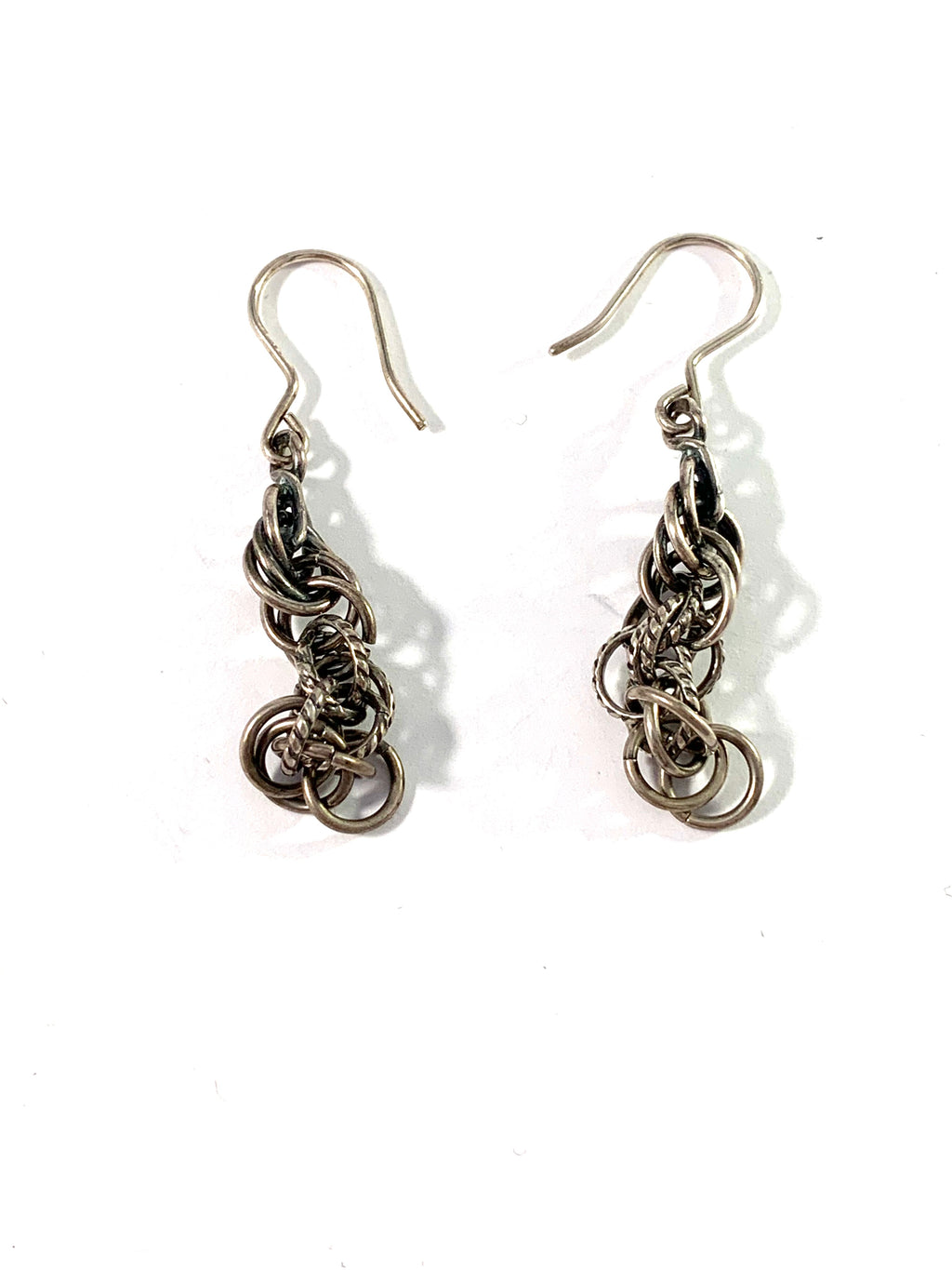 Kalevala Koru, Finland Vintage Sterling Silver Dangle Earrings.