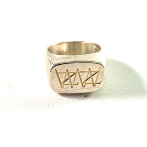Sandin & Sons, Gothenburg 1957 Mid Century Modern Sterling Silver Ring.