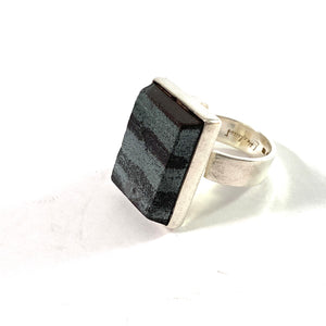 Lennart Haglund, Stockholm 1966. Sterling Silver Ore Ring. Signed