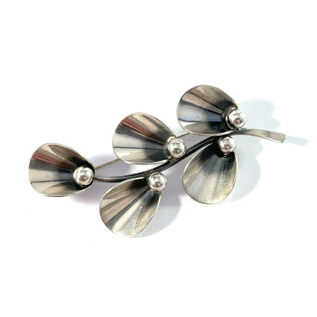 Niels Erik From, Denmark 1950-60s Sterling Silver Brooch.