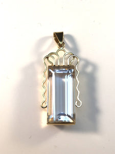 Stockholm year 1977, 18k Gold Rock Crystal Pendant jewelry