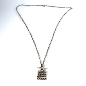 Jorma Laine for Kultateollisus, Finland 1971. Modernist Solid Silver Pendant Necklace.