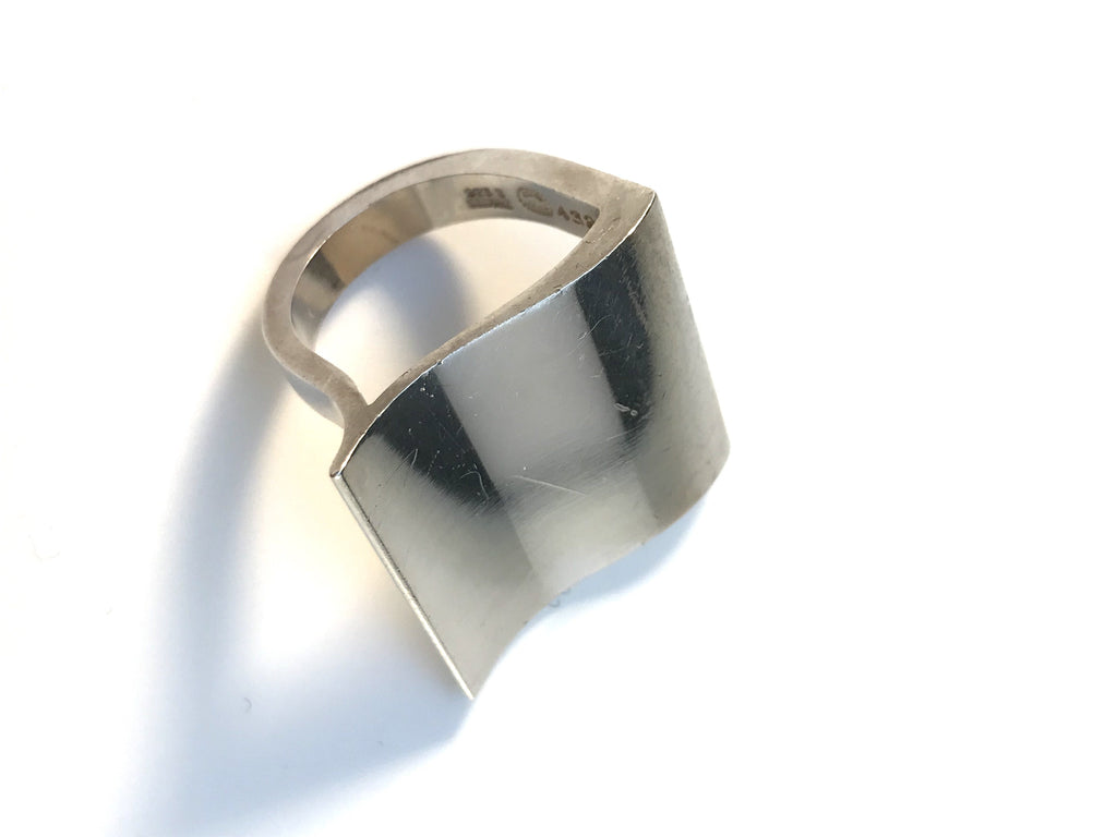 Nanna Ditzel for Georg Jensen Sterling Silver Design 432 Surf Ring.