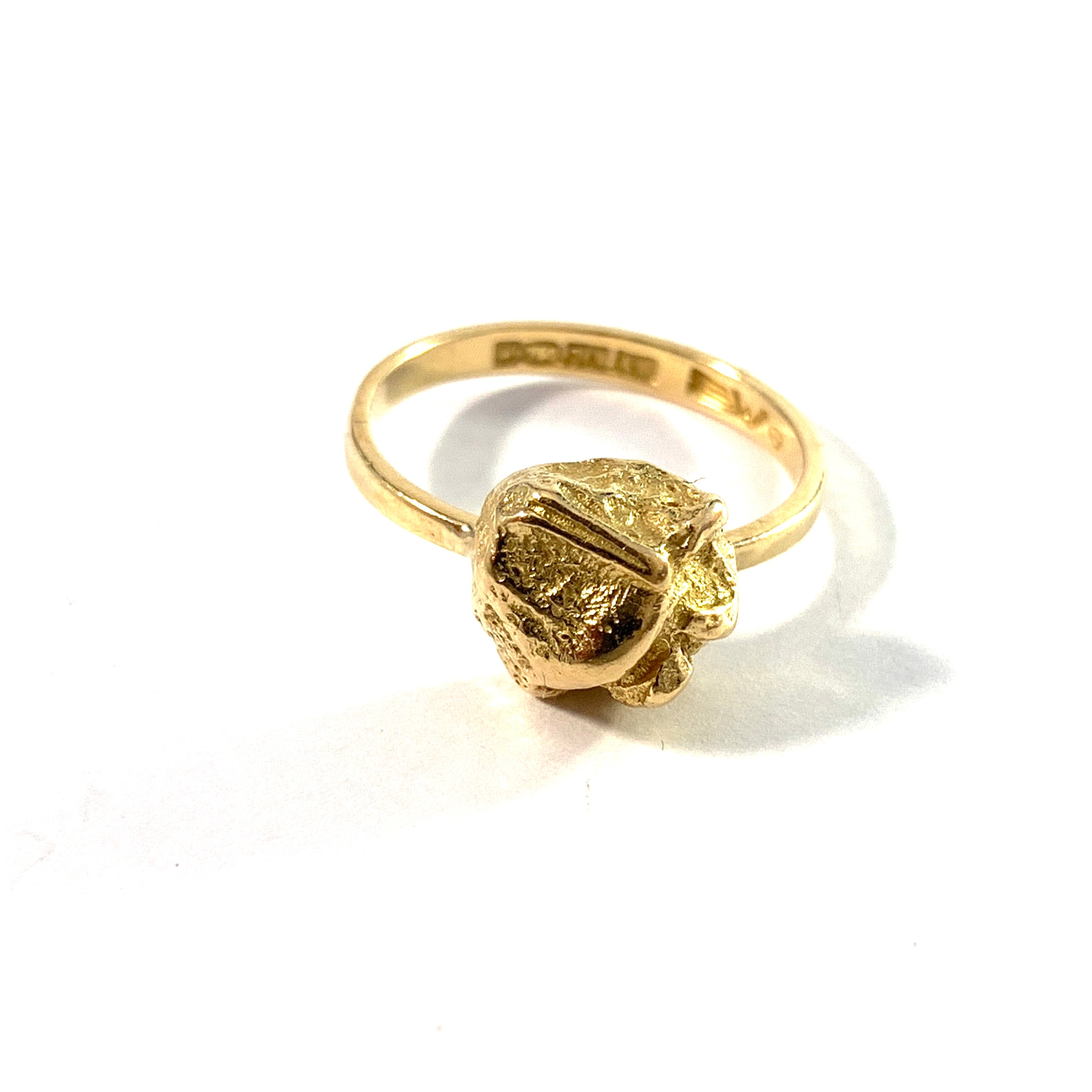 Björn Weckström for Lapponia Finland. Vintage 18k Gold Ring. Design: Yellow Rose.