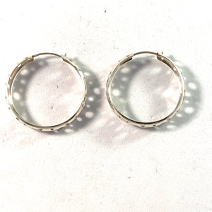 Finland, Vintage Large Silver Earrings.