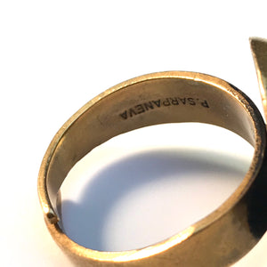 Pentti Sarpaneva Finland 1960-70s Bronze Adjustable Size Ring.