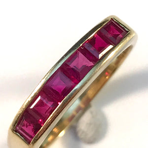 Denmark 1960 18k Gold Synthetic Ruby Ring. Maker's Mark