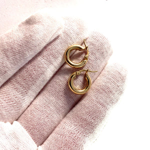 Vintage Mid Century 14k Gold Earrings.